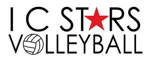 IC Stars Volleyball Sticky Logo